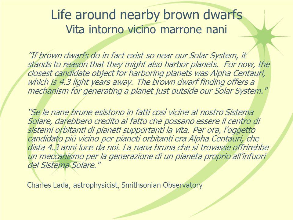 Planets around Brown Dwarfs Pianeti attorno alla Nana Bruna