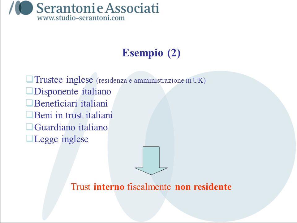 www.studiogaeta.com Esempio (2) Trustee inglese (residenza e amministrazione in UK) Disponente italiano Beneficiari italiani Beni in trust italiani Gu