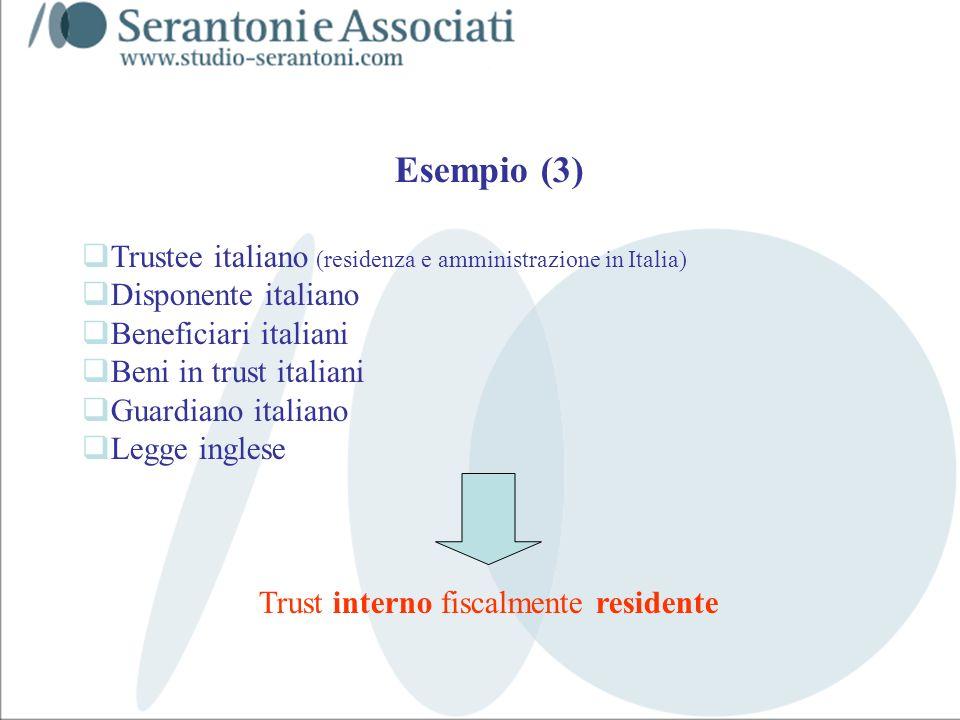 www.studiogaeta.com Esempio (3) Trustee italiano (residenza e amministrazione in Italia) Disponente italiano Beneficiari italiani Beni in trust italia