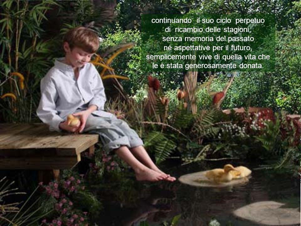 E bello immaginare, ed ancor più è confortante sapere che la natura