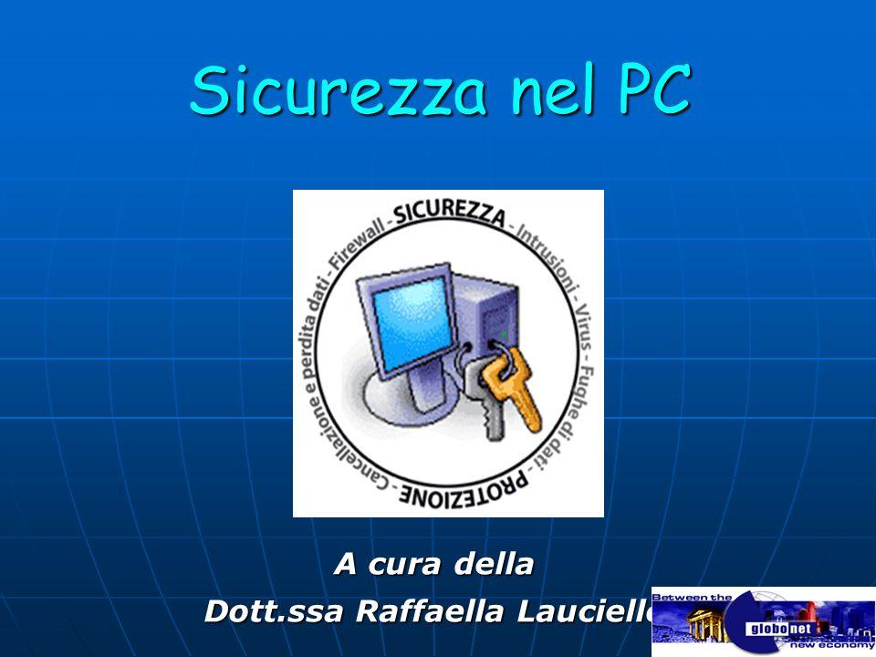 Sicurezza nel PC A cura della Dott.ssa Raffaella Lauciello