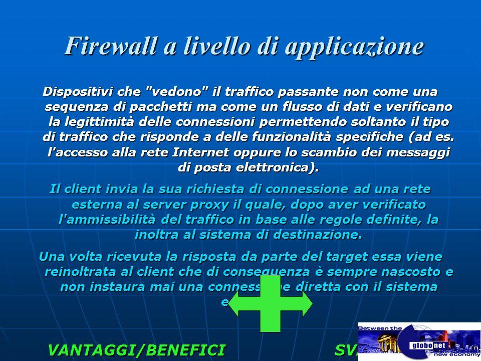 Firewall a livello di applicazione Firewall a livello di applicazione Dispositivi che
