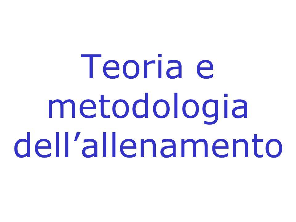 Teoria e metodologia dellallenamento