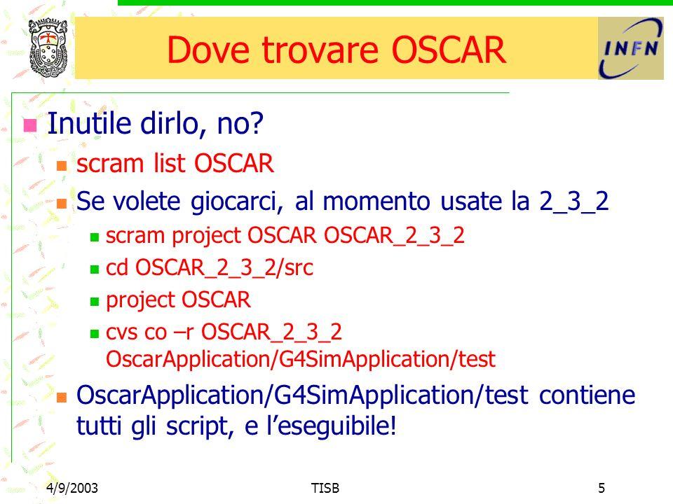 4/9/2003TISB5 Dove trovare OSCAR Inutile dirlo, no.