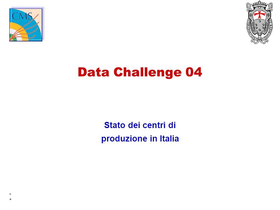 * * Data Challenge 04 Stato dei centri di produzione in Italia