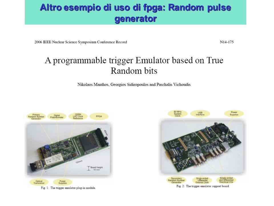 Altro esempio di uso di fpga: Random pulse generator