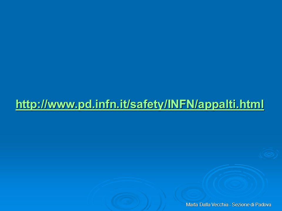 http://www.pd.infn.it/safety/INFN/appalti.html