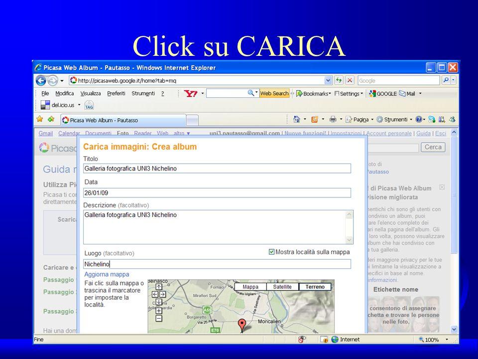 UNI3 – Nichelino – Corso PSP Click su CARICA