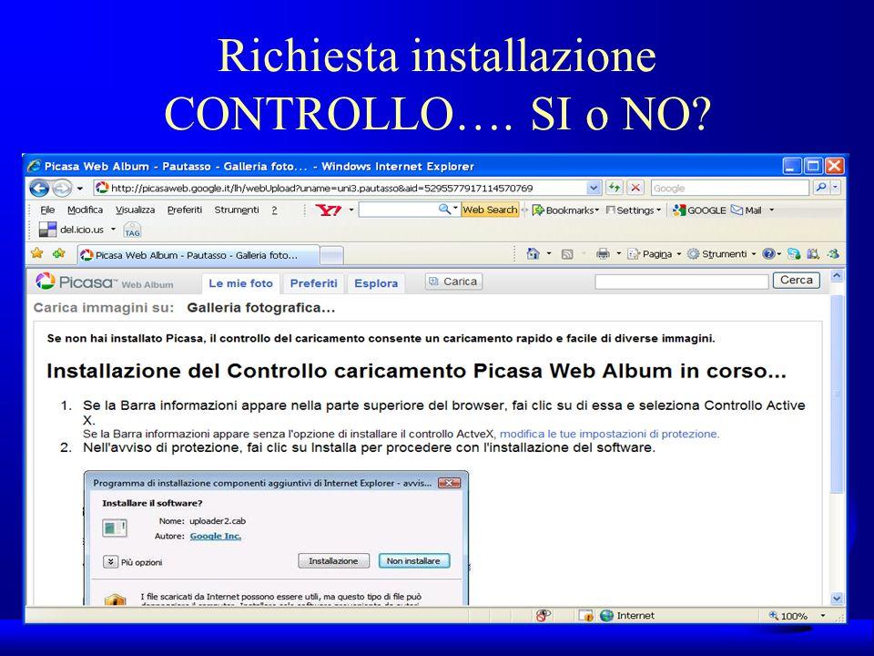 UNI3 – Nichelino – Corso PSP Richiesta installazione CONTROLLO…. SI o NO?