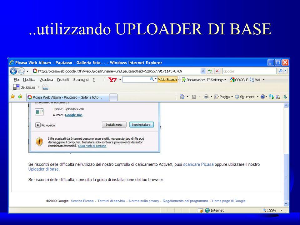 UNI3 – Nichelino – Corso PSP..utilizzando UPLOADER DI BASE