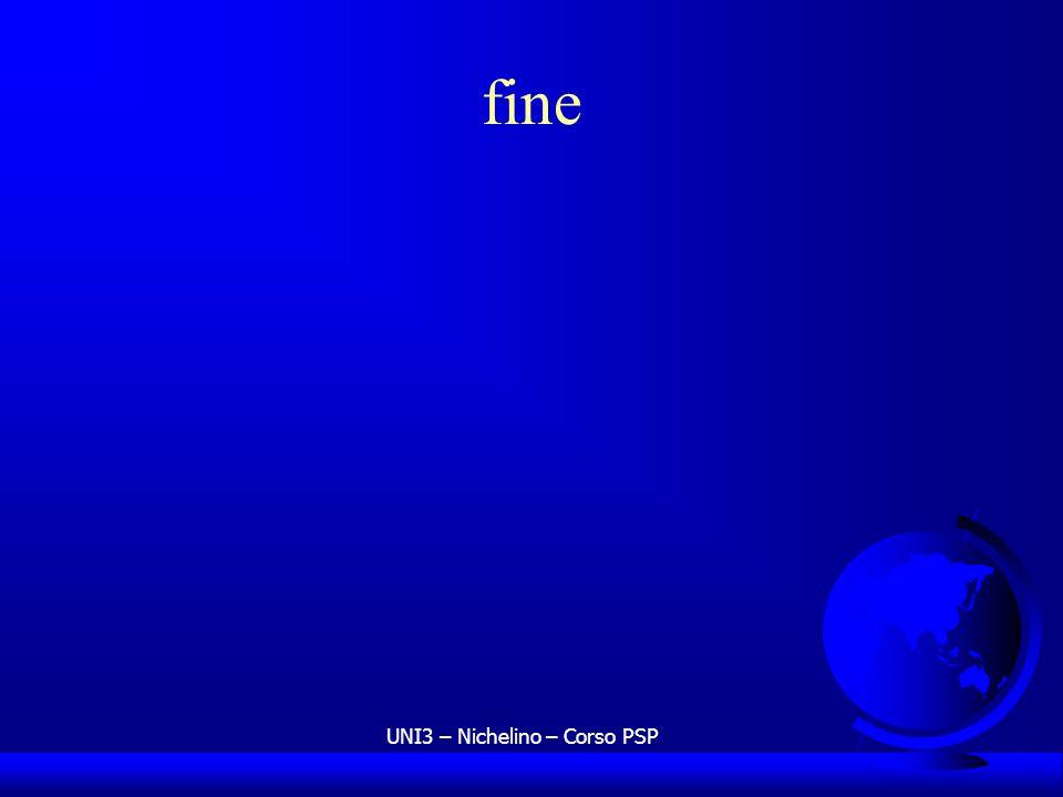 UNI3 – Nichelino – Corso PSP fine
