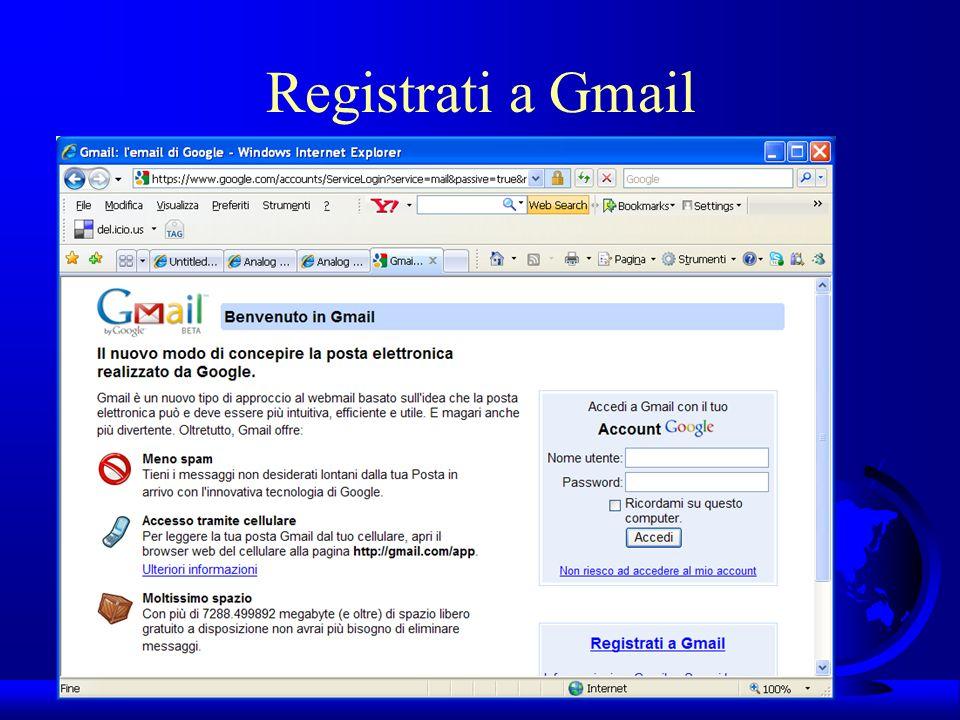 UNI3 – Nichelino – Corso PSP Registrati a Gmail