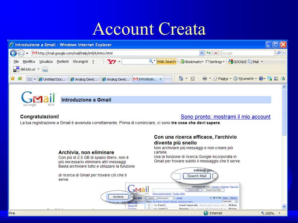 Account Creata