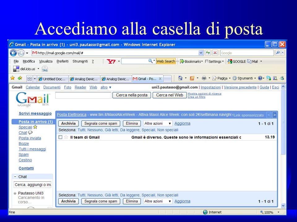 UNI3 – Nichelino – Corso PSP Accediamo alla casella di posta