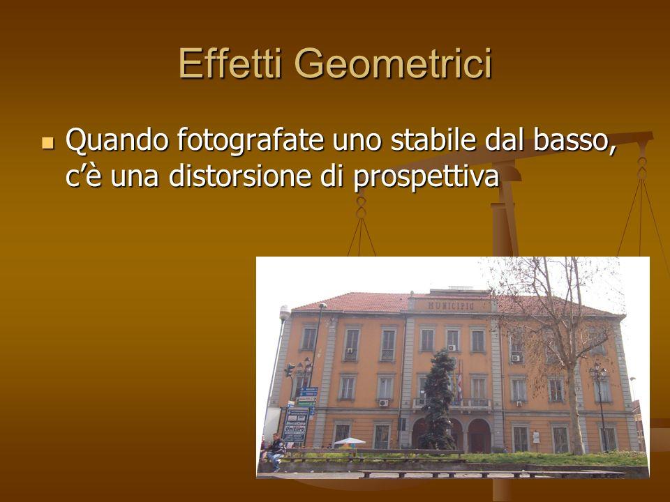 Effetti Geometrici Quando fotografate uno stabile dal basso, cè una distorsione di prospettiva Quando fotografate uno stabile dal basso, cè una distorsione di prospettiva