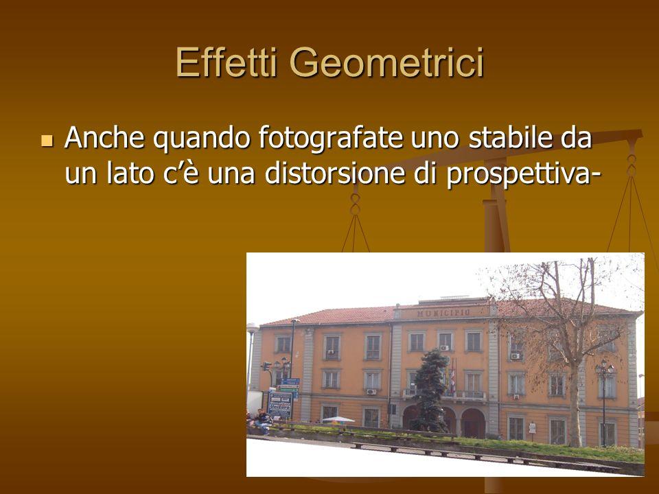 Effetti Geometrici Anche quando fotografate uno stabile da un lato cè una distorsione di prospettiva- Anche quando fotografate uno stabile da un lato