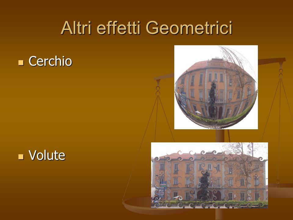 Altri effetti Geometrici Cerchio Cerchio Volute Volute