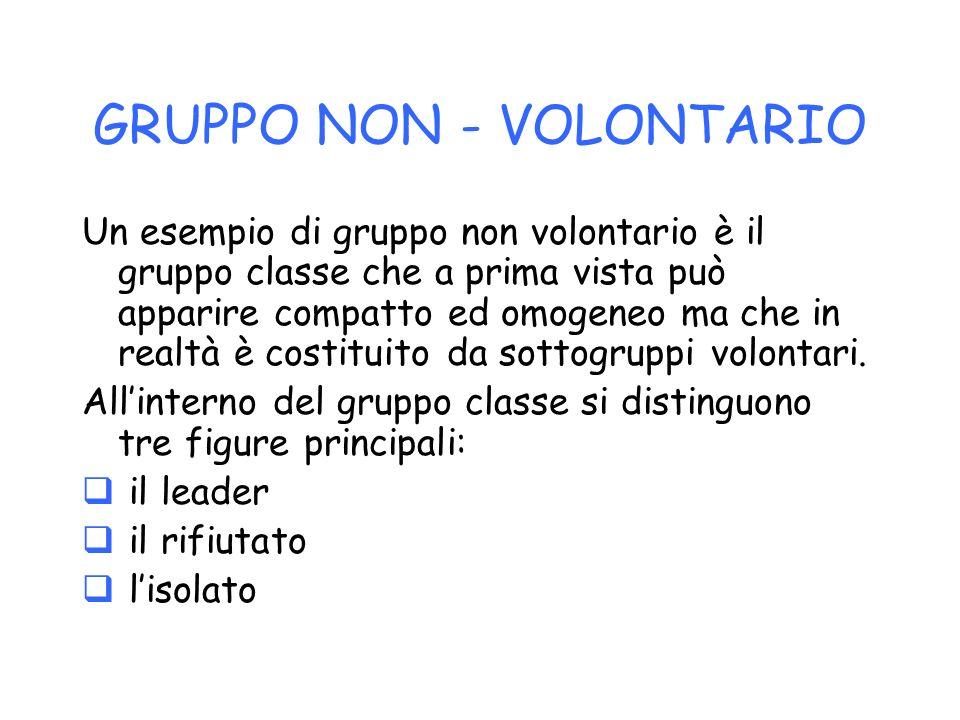 GRUPPO SEMI - VOLONTARIO Costituisce un esempio di gruppo semi-volontario gli Scout.