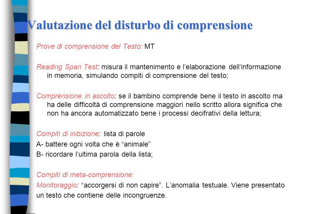 Caratteristiche dei cattivi lettori: memoria, controllo meta-cognitivo e inibizione n La memoria a breve termine, nella sua componente attiva (di memo