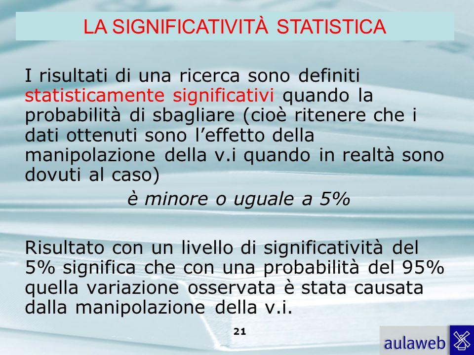 Rumiati, Lotto, Introduzione alla psicologia della comunicazione, il Mulino, 2007 Capitolo I. TITOLO 21 I risultati di una ricerca sono definiti stati