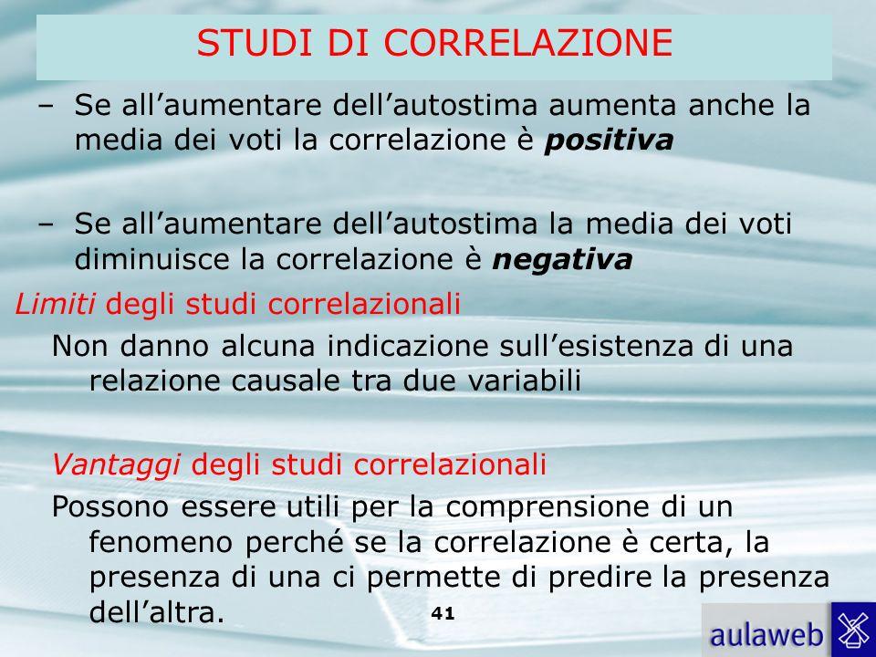 Rumiati, Lotto, Introduzione alla psicologia della comunicazione, il Mulino, 2007 Capitolo I. TITOLO 41 –Se allaumentare dellautostima aumenta anche l
