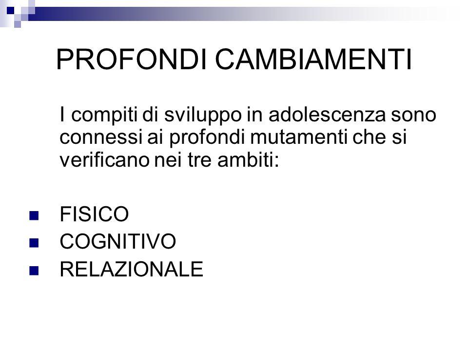 COMPITI DI SVILUPPO NELLA DIMENSIONE RELAZIONALE 1.