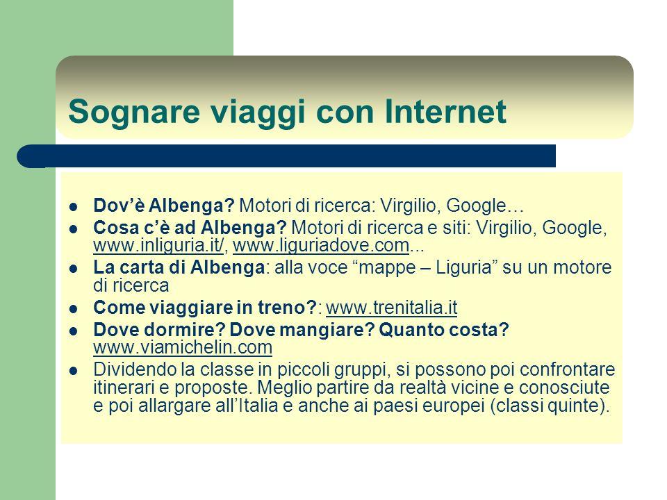 Sognare viaggi con Internet Dovè Albenga.Motori di ricerca: Virgilio, Google… Cosa cè ad Albenga.