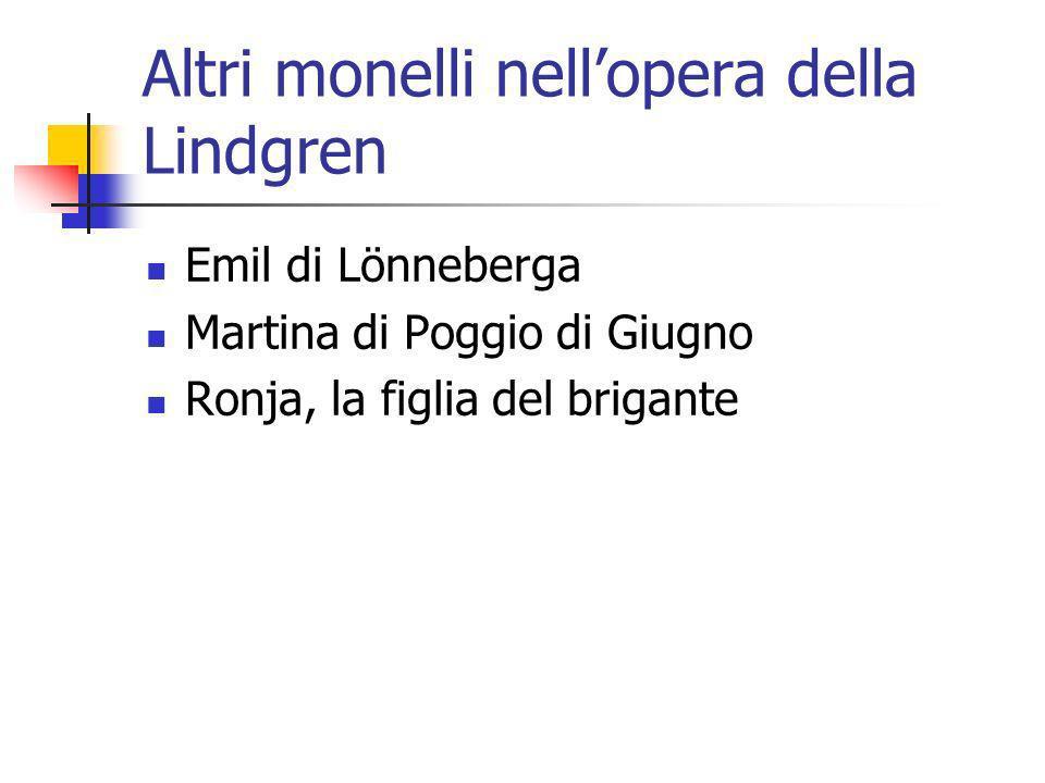 Altri monelli nellopera della Lindgren Emil di Lönneberga Martina di Poggio di Giugno Ronja, la figlia del brigante
