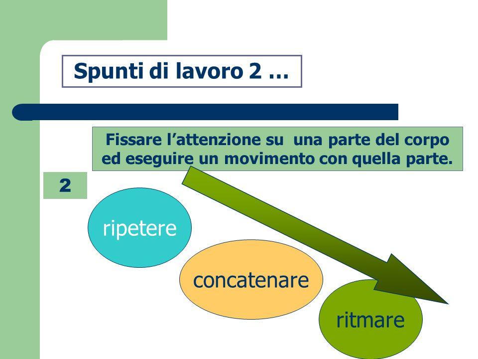 Spunti di lavoro 3 … 3 Centriamo la proposta su una abilità motoria.