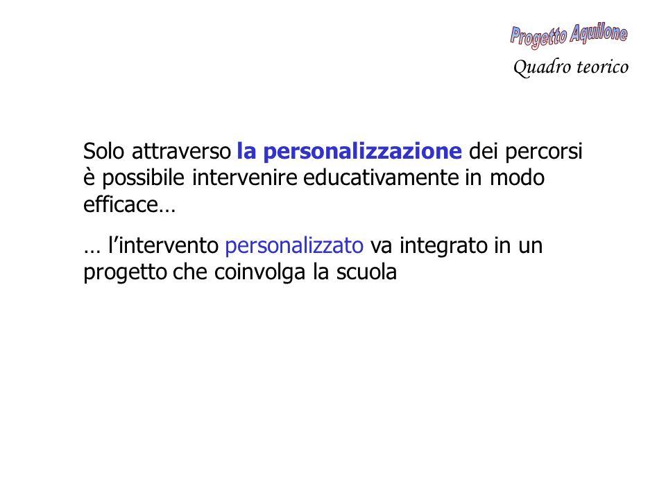 Solo attraverso la personalizzazione dei percorsi è possibile intervenire educativamente in modo efficace… … lintervento personalizzato va integrato i