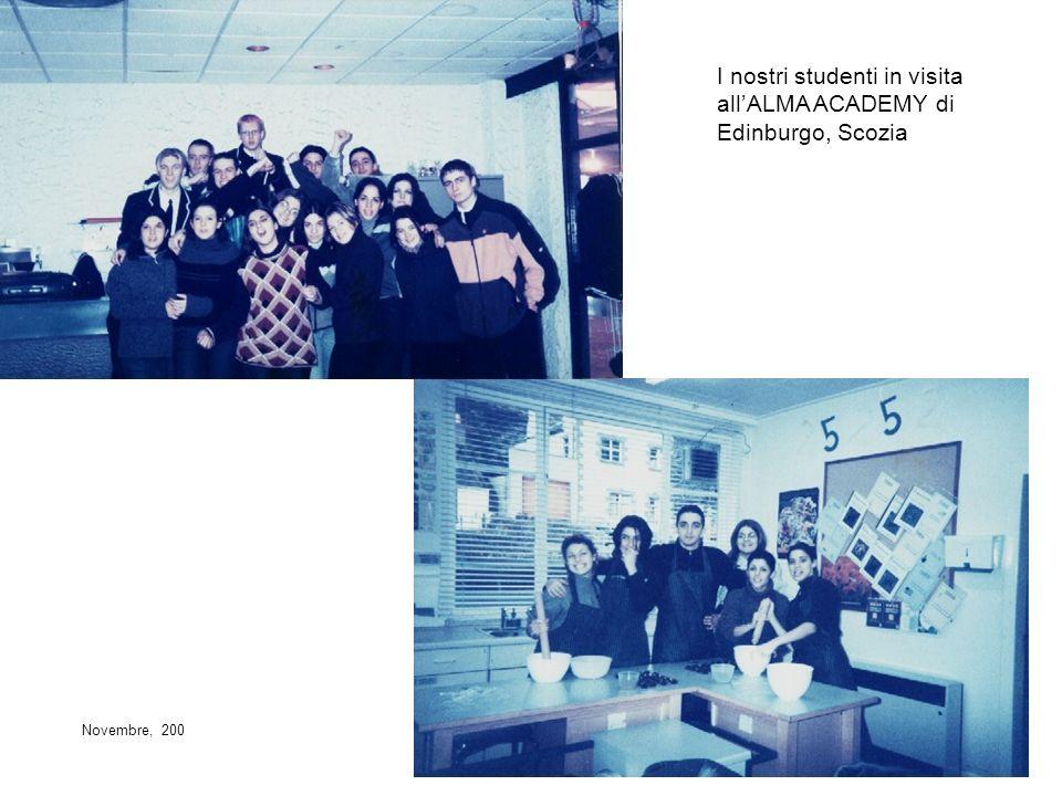 I nostri studenti in visita allALMA ACADEMY di Edinburgo, Scozia Novembre, 200