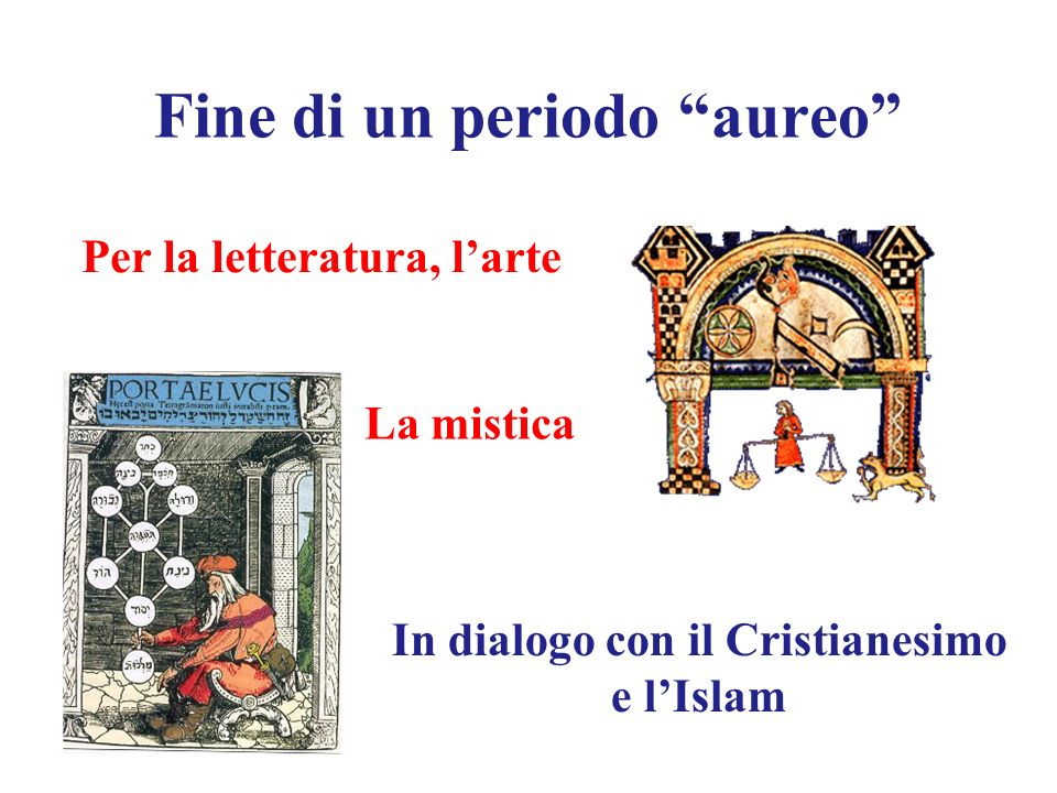 Fine di un periodo aureo Per la letteratura, larte La mistica In dialogo con il Cristianesimo e lIslam