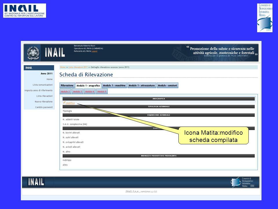 Icona Matita:modifico scheda compilata
