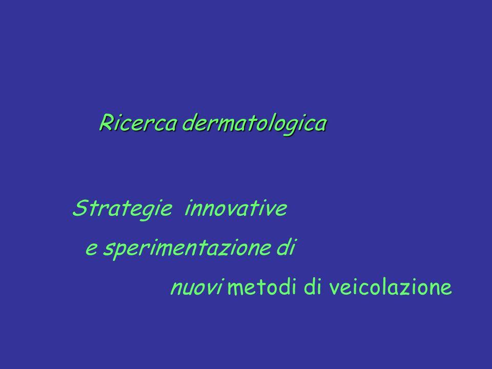 Strategie innovative e sperimentazione di nuovi metodi di veicolazione Ricerca dermatologica Ricerca dermatologica
