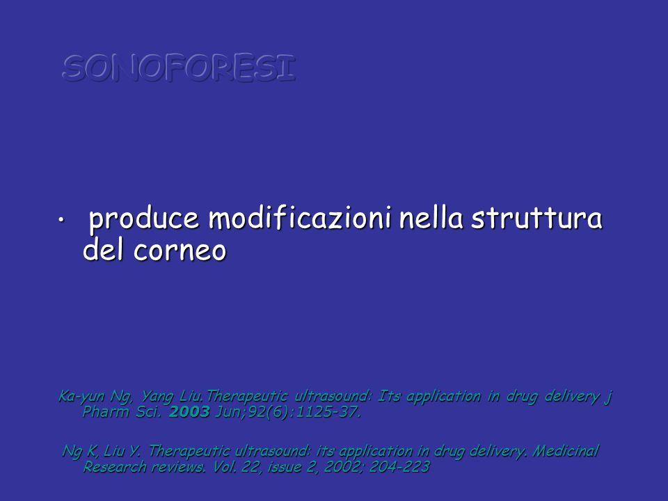 produce modificazioni nella struttura del corneo produce modificazioni nella struttura del corneo Ka-yun Ng, Yang Liu.Therapeutic ultrasound: Its appl