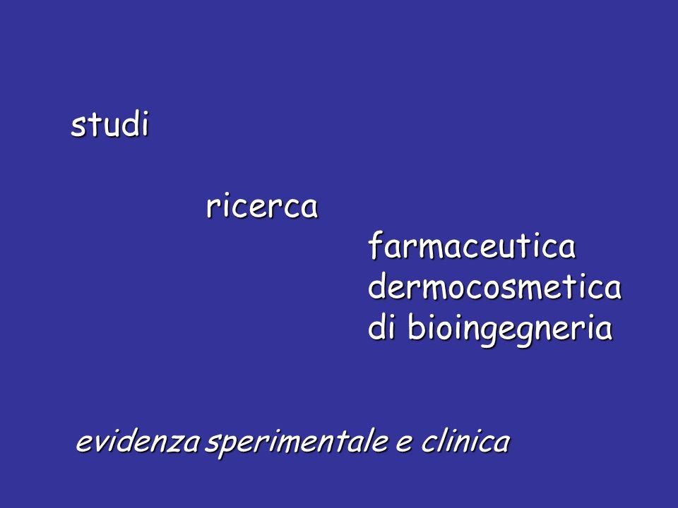 studi studi ricerca ricerca farmaceutica farmaceutica dermocosmetica dermocosmetica di bioingegneria di bioingegneria evidenza sperimentale e clinica