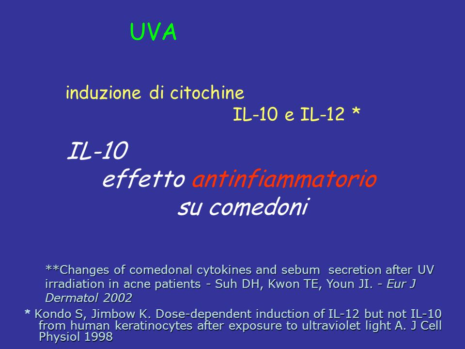 Kondo S, Jimbow K. Dose-dependent induction of IL-12 but not IL-10 from human keratinocytes after exposure to ultraviolet light A. J Cell Physiol 1998