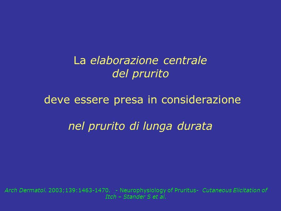 La elaborazione centrale del prurito deve essere presa in considerazione nel prurito di lunga durata Arch Dermatol. 2003;139:1463-1470. - Neurophysiol