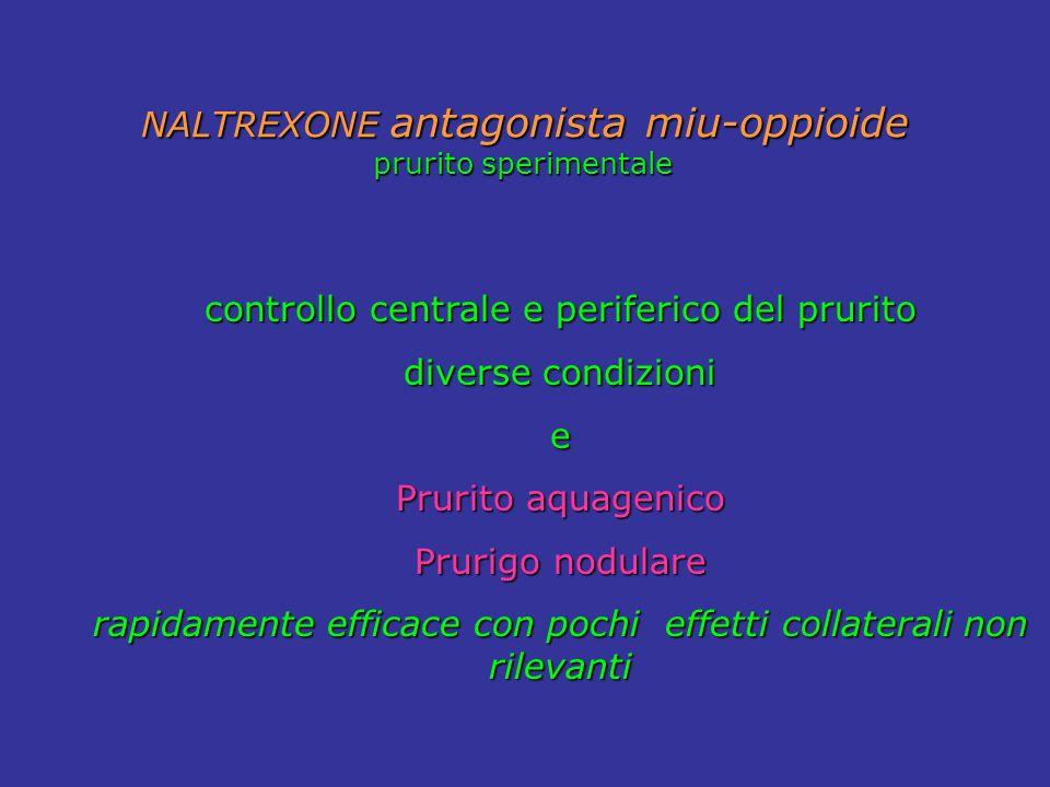 controllo centrale e periferico del prurito diverse condizioni e Prurito aquagenico Prurigo nodulare rapidamente efficace con pochi effetti collateral