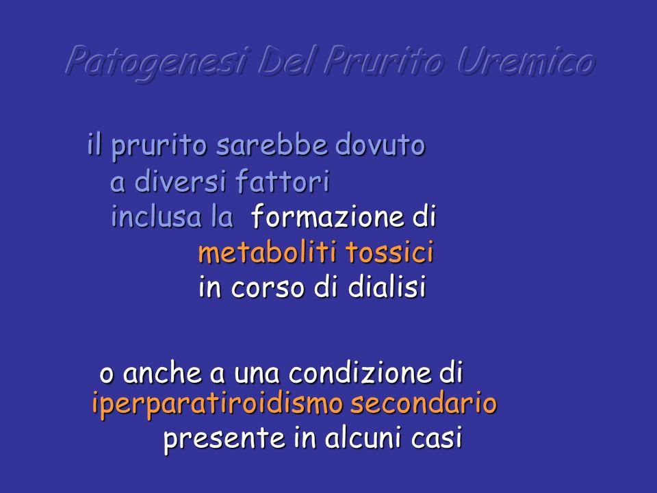 il prurito sarebbe dovuto il prurito sarebbe dovuto a diversi fattori a diversi fattori inclusa la formazione di inclusa la formazione di metaboliti t