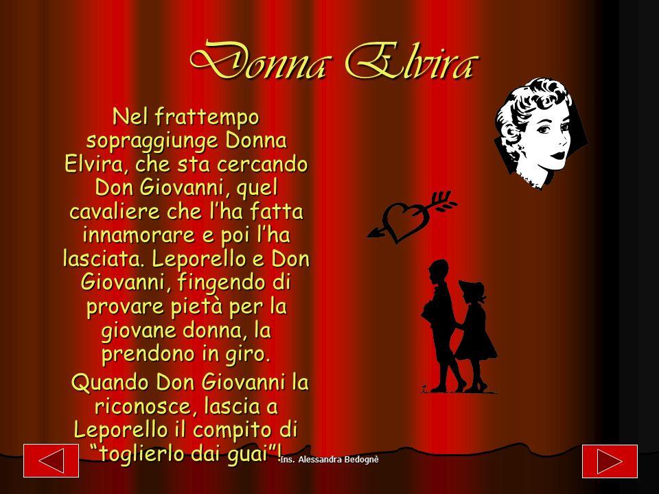 La morte del Commendatore La morte del Commendatore Don Giovanni sta corteggiando Donna Anna.