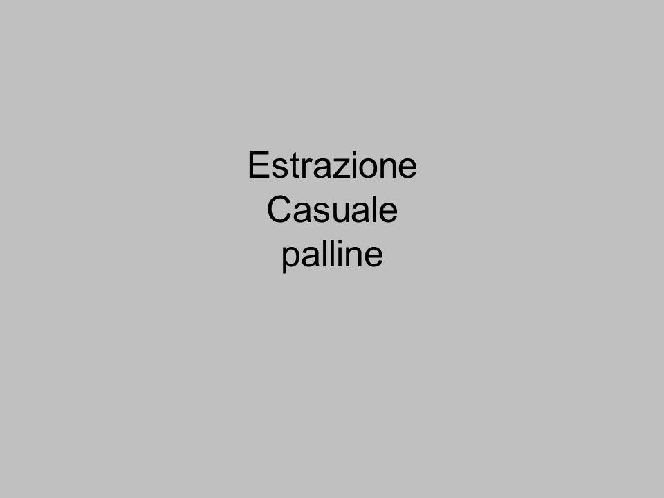 Urna con 3 palline rosse R1, R2, R3 e 2 azzurre A1, A2 si estrae una pallina, la si rimette nellurna, si estrae una seconda pallina Spazio campioni S = [R1, R2, R3, A1, A2]Eventi = 25 Cfr.prossima 1^ estratta, reinserita 2^ estratta: registrate secondo ordine estrazione