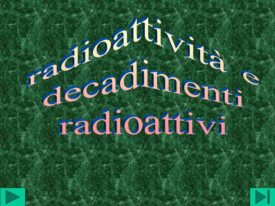 Radioattività e sue caratteristiche Alcuni atomi emettono spontaneamente delle radiazioni che possono essere analizzate ricavandone alcune proprietà