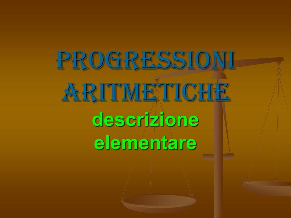 Progressioni aritmetiche descrizione elementare