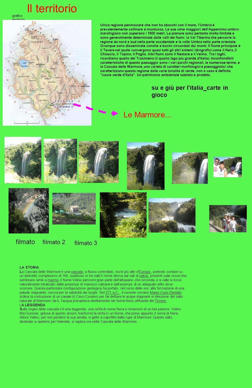 Il territorio grafico territorio Unica regione peninsulare che non ha sbocchi con il mare, l'Umbria è prevalentemente collinare e montuosa. Le sue cim