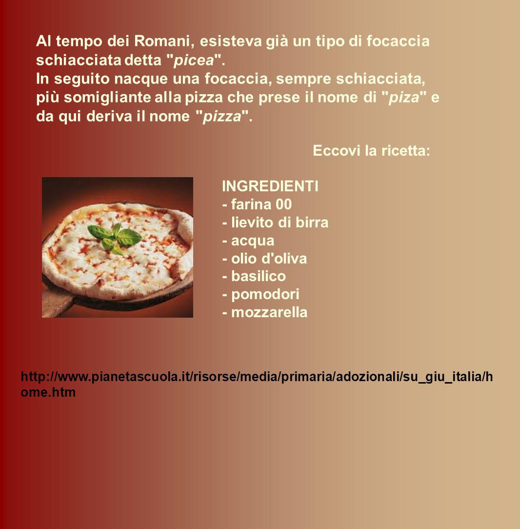 Eccovi la ricetta: INGREDIENTI - farina 00 - lievito di birra - acqua - olio d'oliva - basilico - pomodori - mozzarella http://www.pianetascuola.it/ri