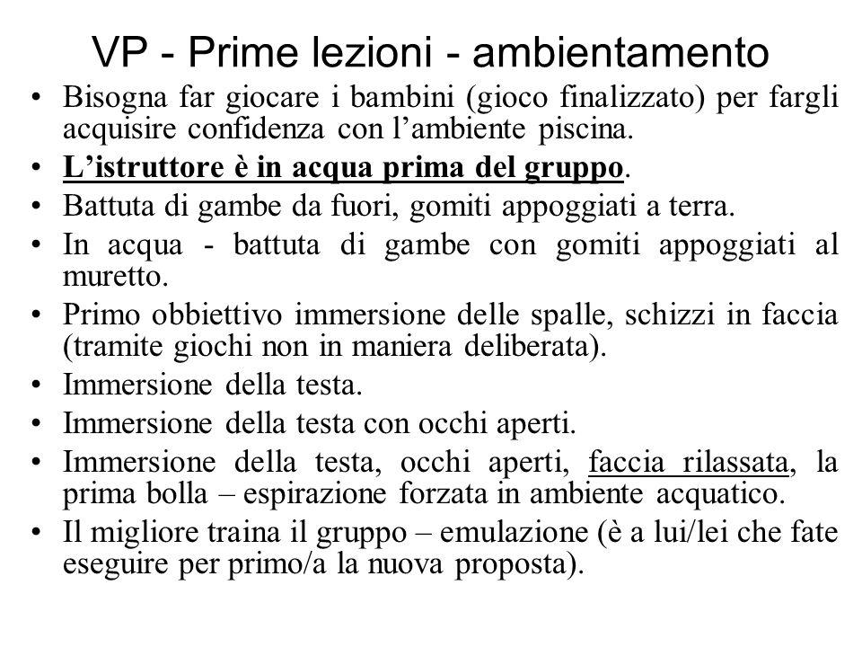 VP - Prime lezioni – ambientamento - bolle RITMO RESPIRATORIO BASE FONDAMENTALE SU CUI POGGIA IL NUOTO.