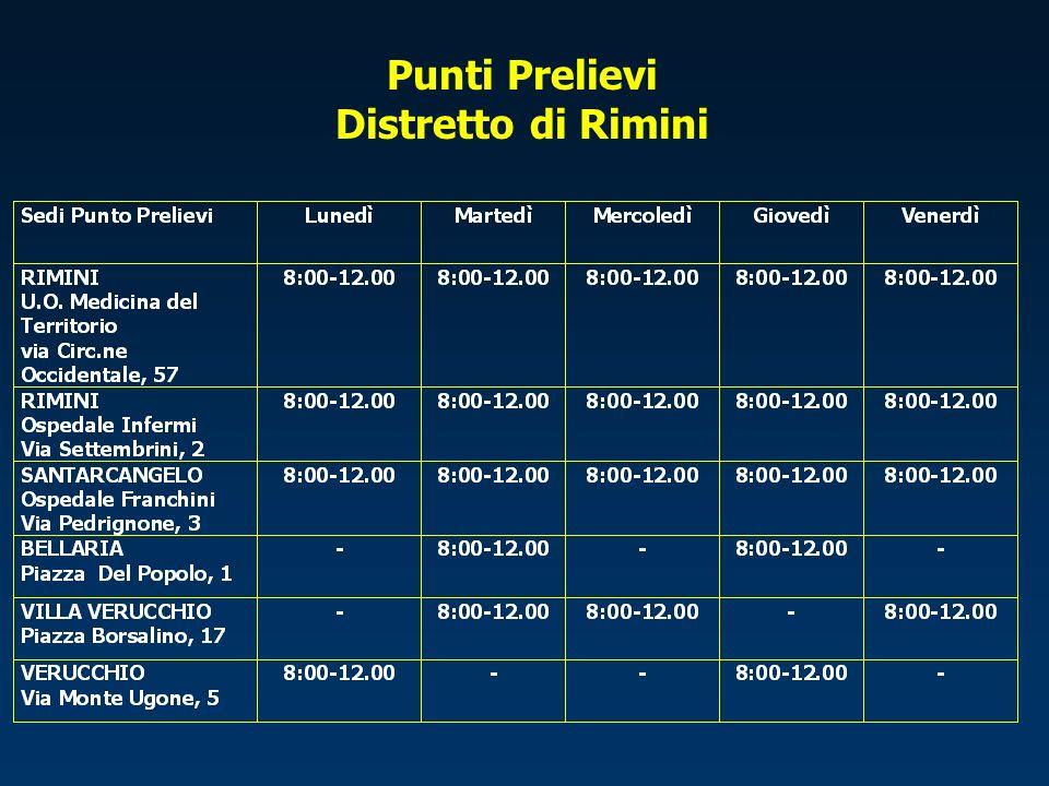 Punti Prelievi Distretto di Riccione