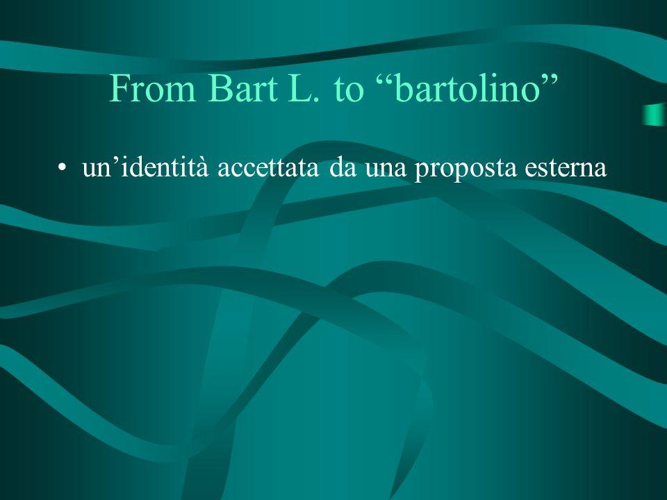 From Bart L. to bartolino unidentità accettata da una proposta esterna