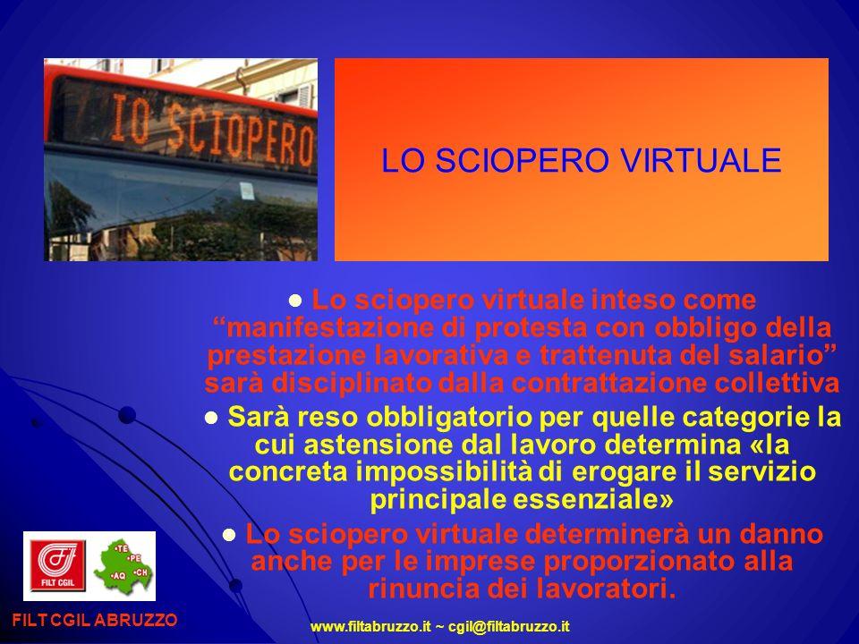 www.filtabruzzo.it ~ cgil@filtabruzzo.it LO SCIOPERO VIRTUALE FILT CGIL ABRUZZO Lo sciopero virtuale inteso come manifestazione di protesta con obblig